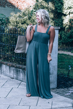Back From The Mountains Jumpsuit, Olive
