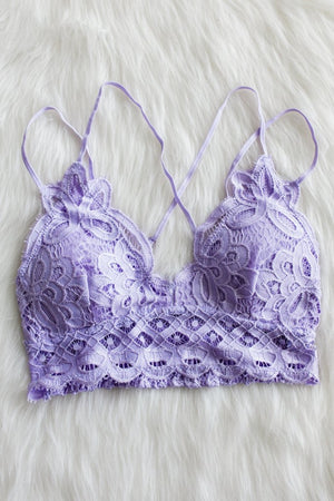 Opening Day Bralette, Lilac