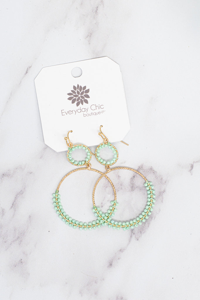 Day Dreaming Earrings , Mint