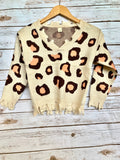 Little Leopard Destroyed Sweater - Youth