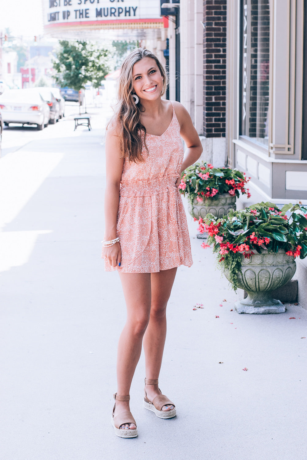 Sweet as a Peach Romper