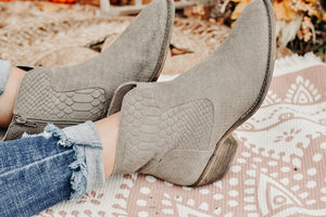 Cool Wind Bootie, Taupe Snack Suede