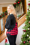 Baby It's Cold Outside Buffalo Plaid Top