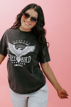 Fly High Graphic Tee, Black