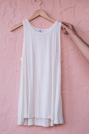 Anytime Tank Top , ivory