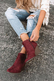 Abbie Wedge Bootie, Wine