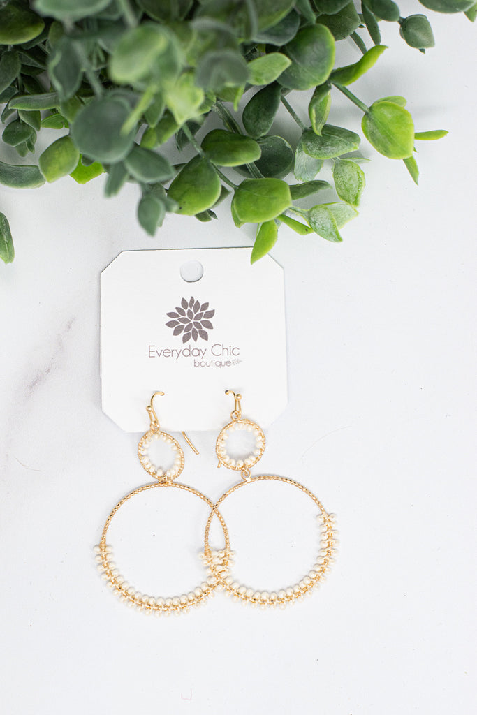 Day Dreaming Earrings , Ivory