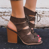 Lace Up Gladiator Heel