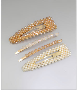 Pearl & Beads Hair Set, Champagne