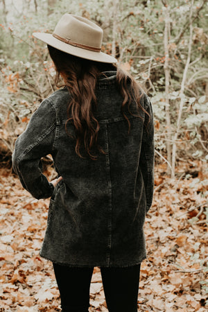 Colbie Corduroy Jacket, Black