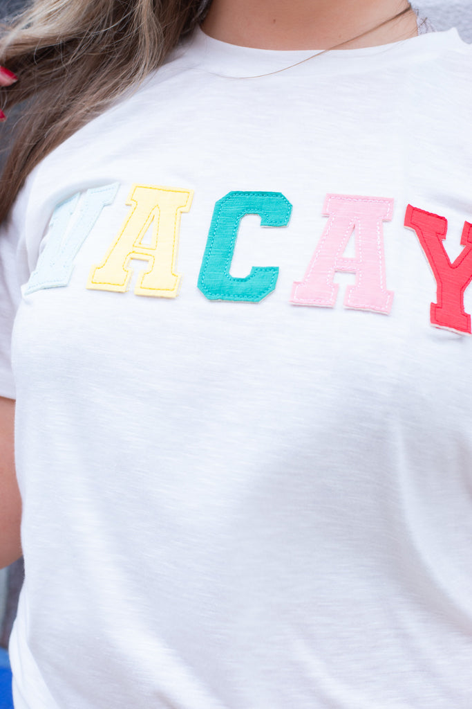 Vacay Graphic Tee, ivory