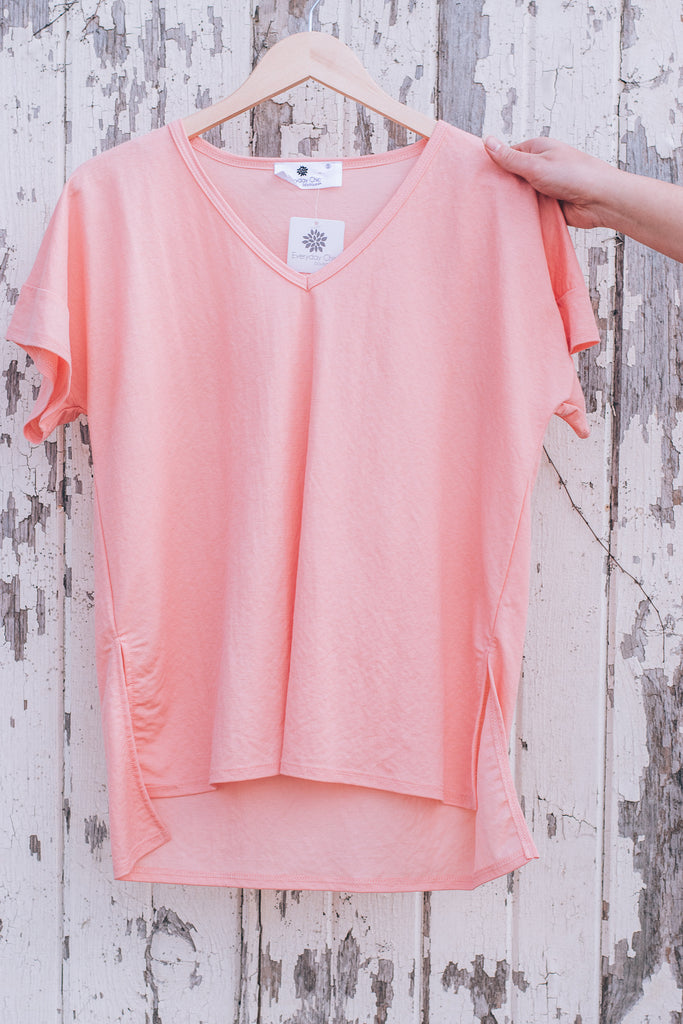 Back To The Basics Tee , Coral