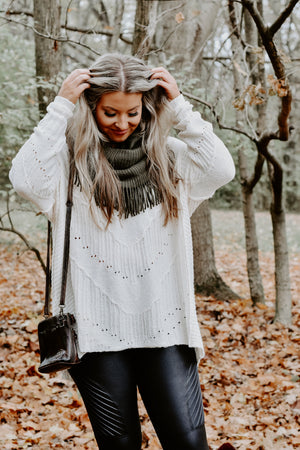 Brixten Boho Sweater, Cream