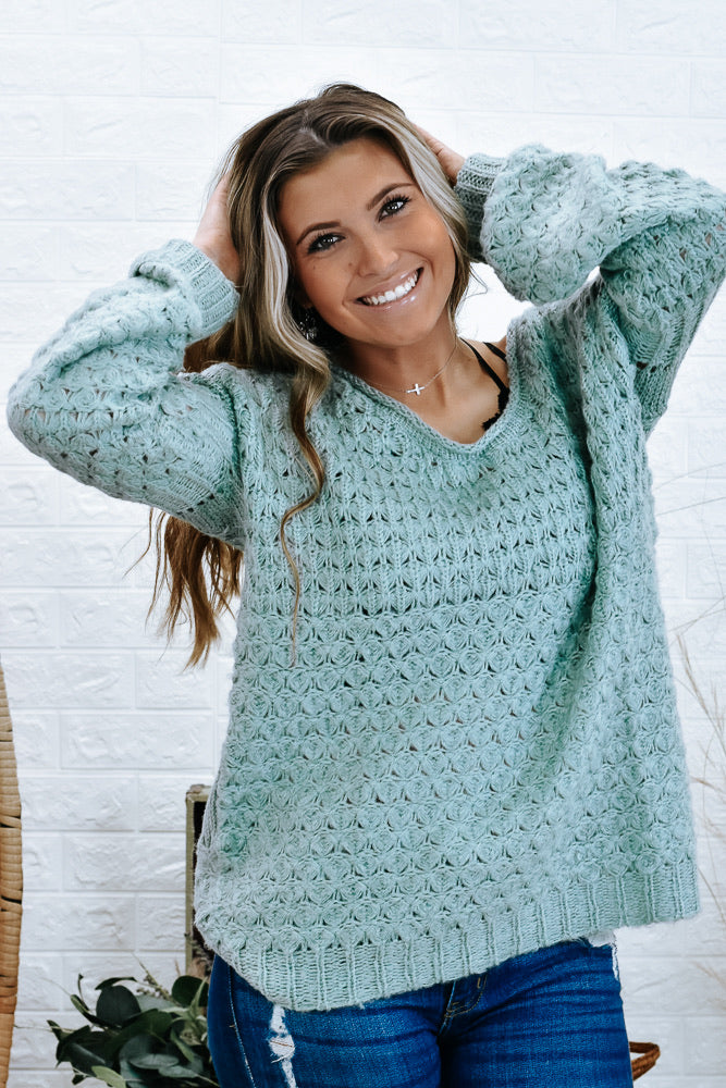 Kennedy's Knitted Sweater, Dusty Sage