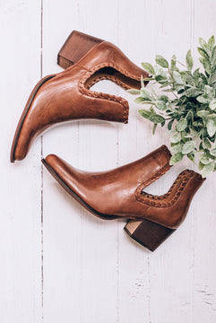 Whiskey Cutout Bootie