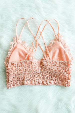 Dainty Daisy Bralette, Coral