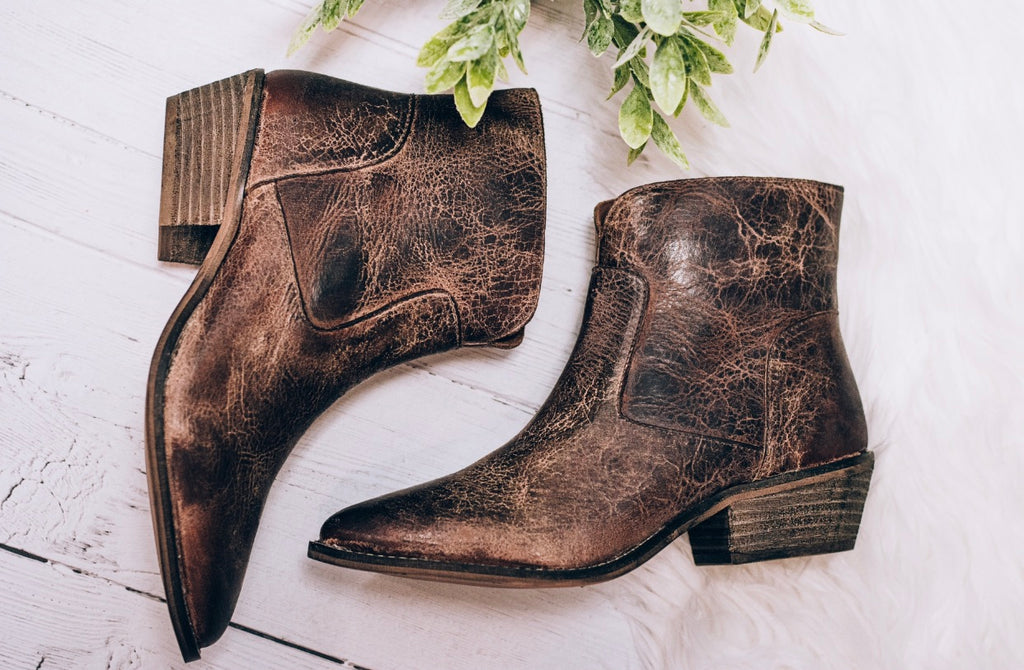 Cool Wind Bootie, Tan Vintage Leather