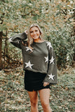 Simply Stars  Sweater, Olive