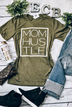 Mom Hustle Olive T-Shirt