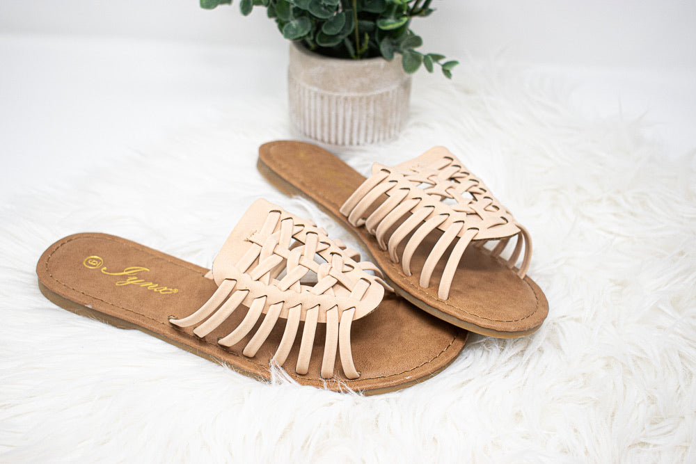 Sweet As Summertime Sandal, Nude