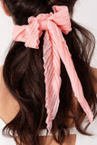 Pleated Solid Ponytail Scarf Scruchie