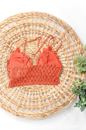 Opening Day Bralette, Rust