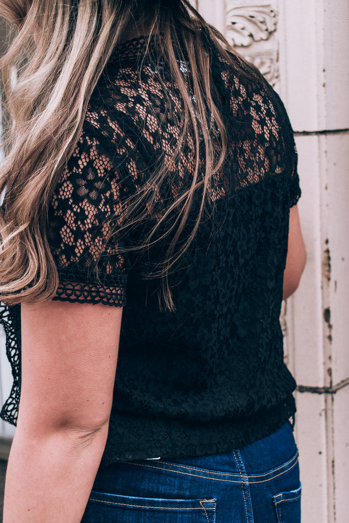 Oh So Sweet Lace Top , black