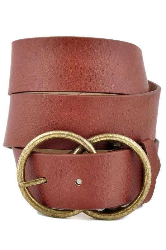 Everyday Leatherette Belt, Tan