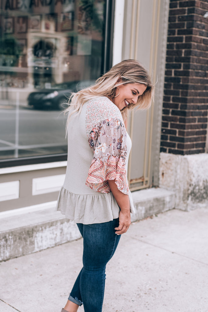 Going With The Flow Blouse, Sage