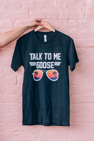 Talk To Me Goose Graphic Tee, Black