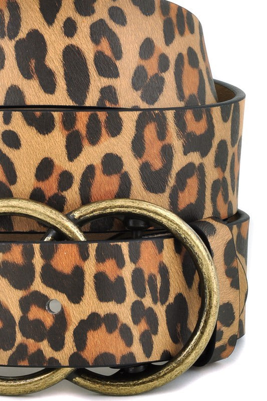 Leopard Printed Belt