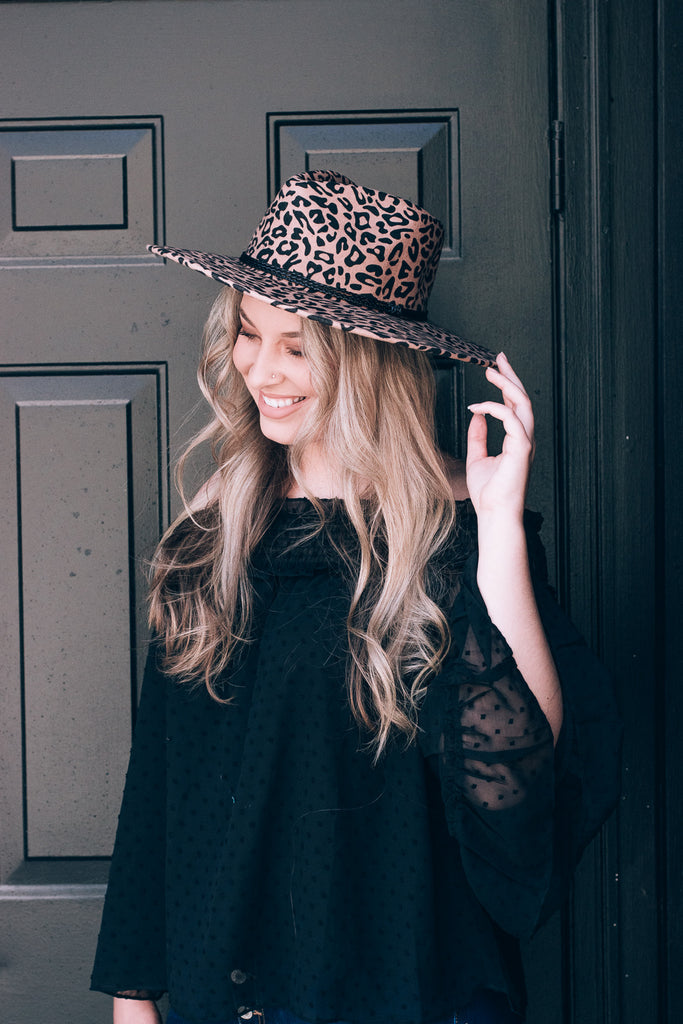Leopard Wool Hat