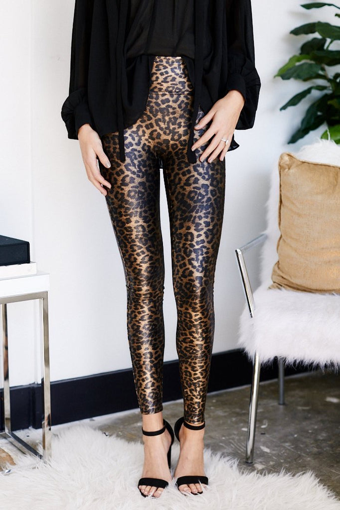 Faux Leather Legging, Leopard