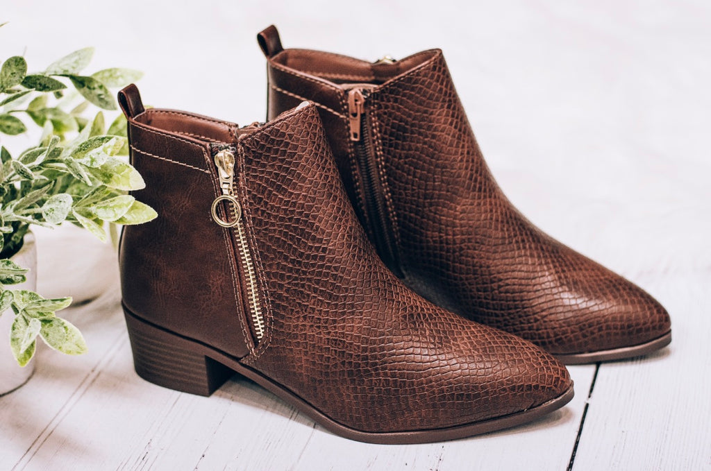 Jace Brown Croc Bootie