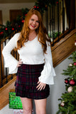 Sway Into Style Plaid Skirt