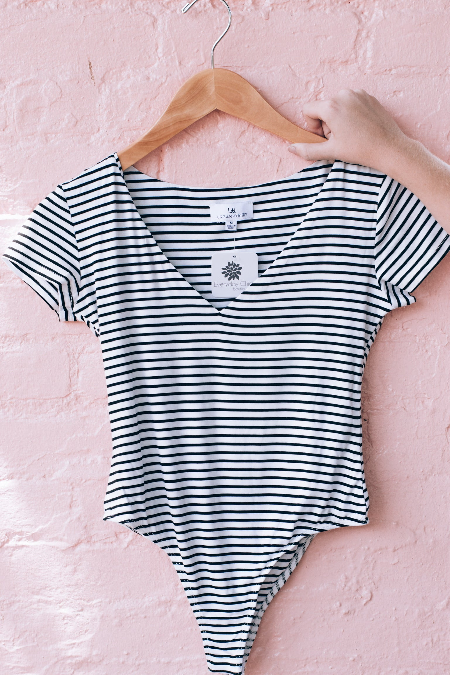 Cassie Cool Bodysuit, Striped