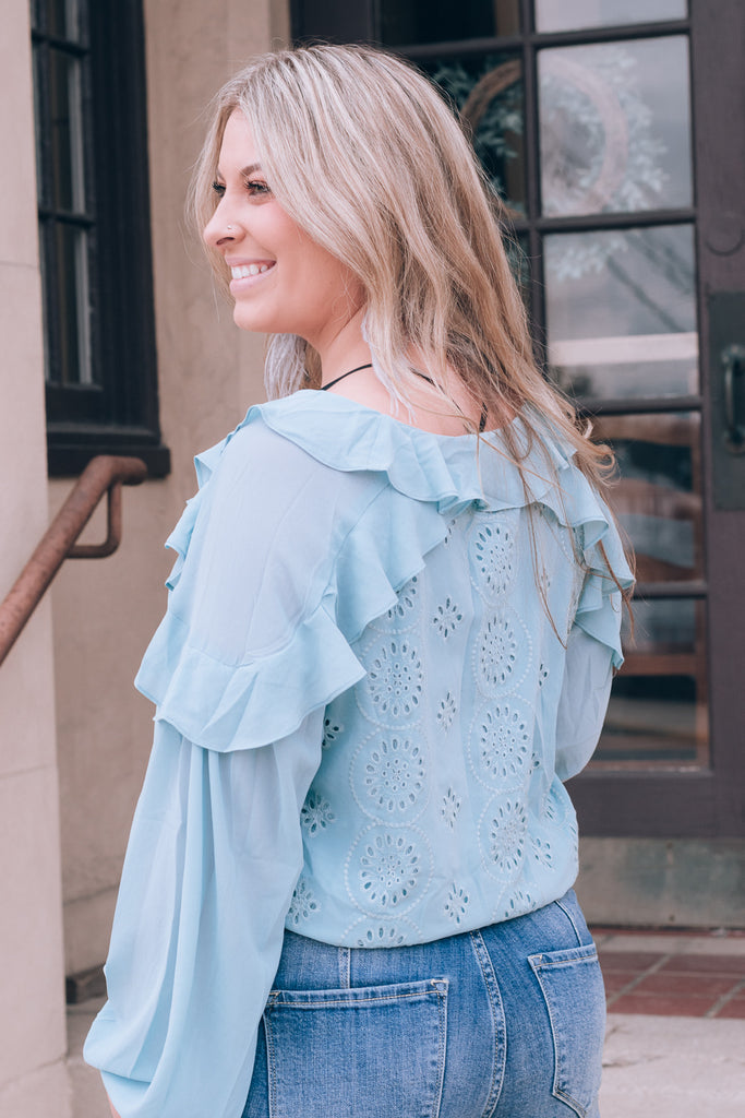 Find Your Own Way Blouse, Blue
