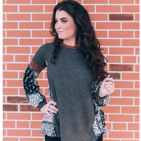Balloon Leopard Sleeved Top