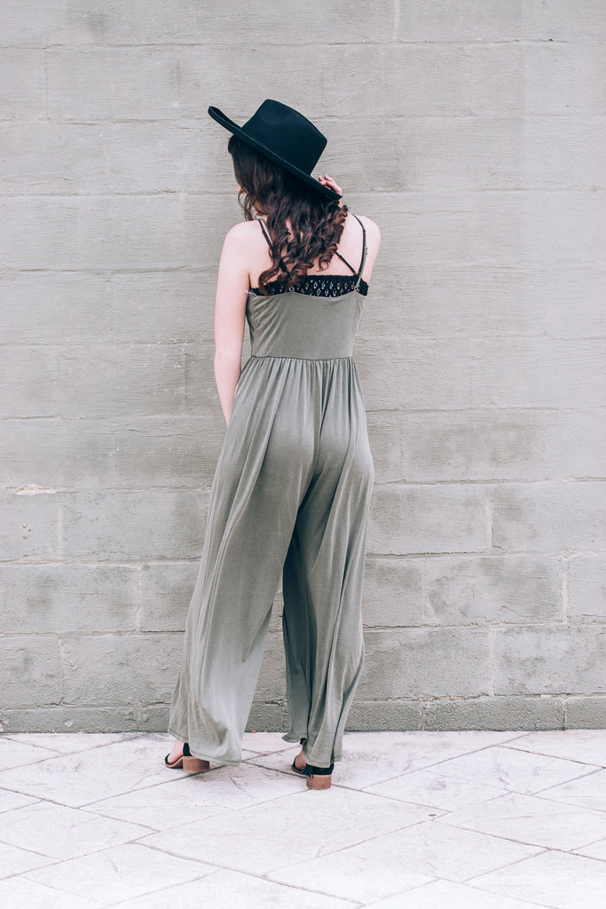 Just Right Jumpsuit , olive