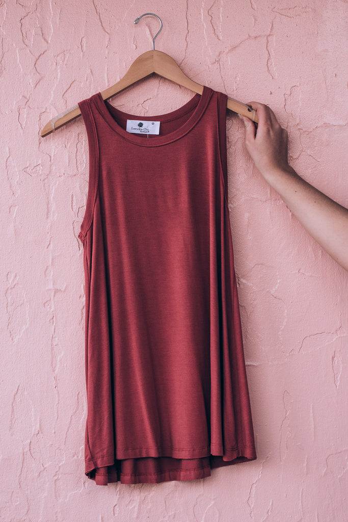 Anytime Tank Top , dusty marsala