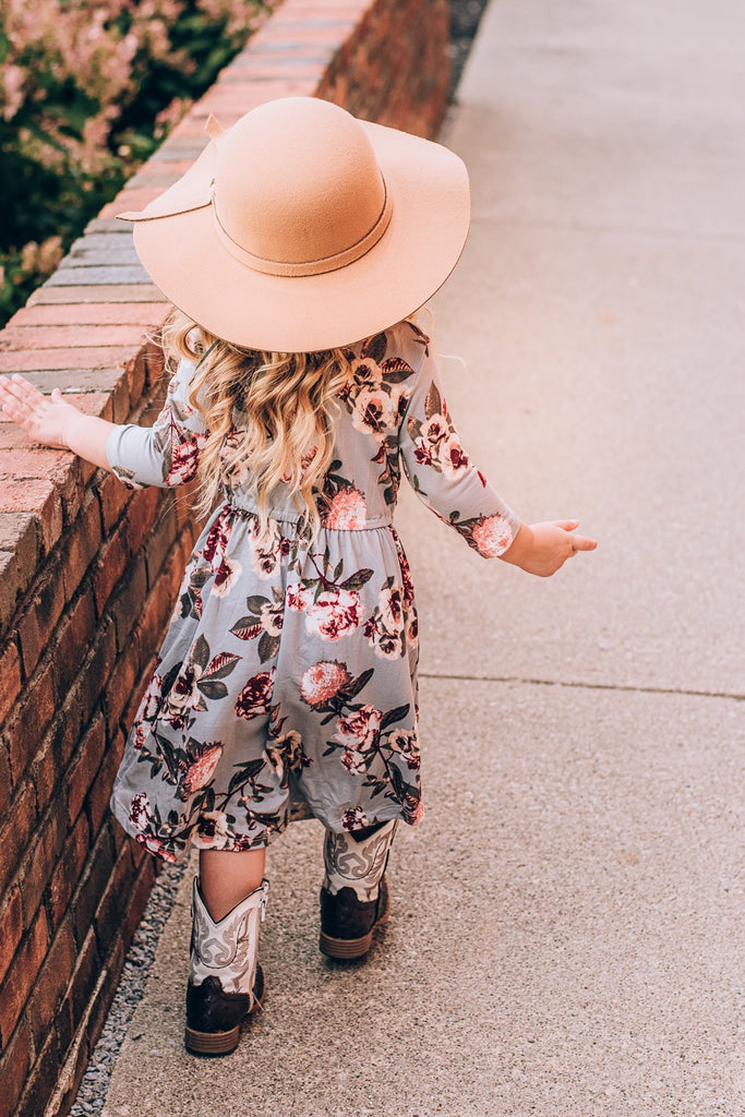 Favorite Floral Maxi Dress, gray