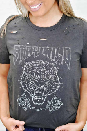 Stay Wild Graphic Tee, Black