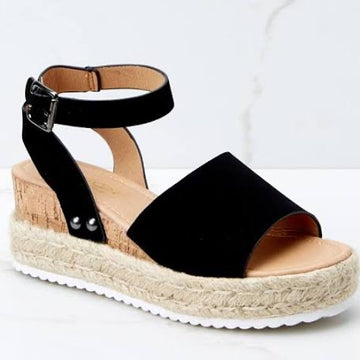Topic of Conversation Sandal, Black