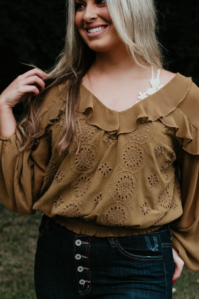 Find Your Own Way Blouse, Dijon Mustard