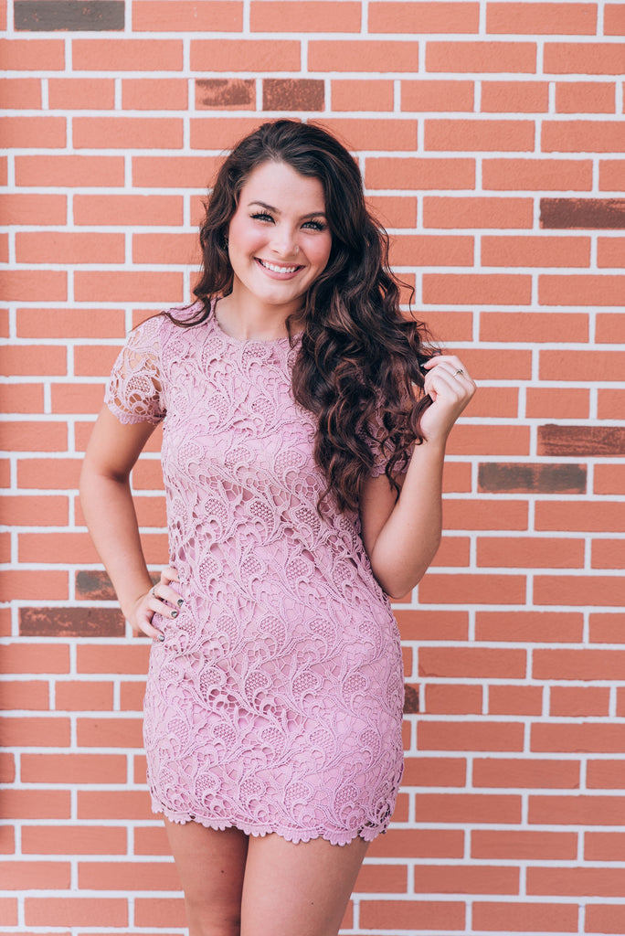 Forever Lace Dress, Blush
