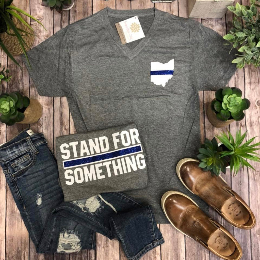 Stand For Something Blue Line T-Shirt