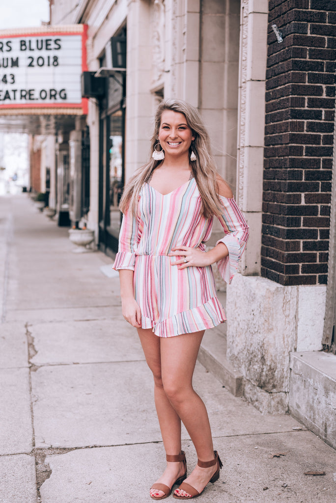 Laney Striped Romper