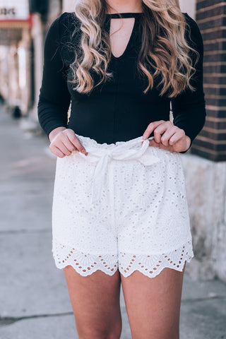 Peri Plaid Belted Shorts