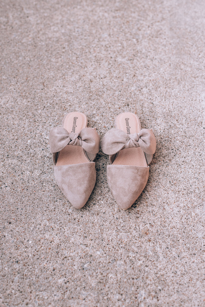 Betty Bow Mules , taupe