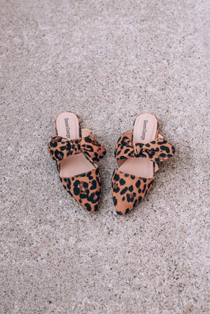 Betty Bow Mules , leopard